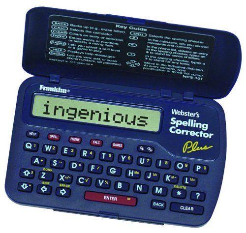 Franklin SPELLING CORRECTOR - http://www.tutorfrog.com/franklin-spelling-corrector-2/  #Toys #Coolproducts #Bestsellers