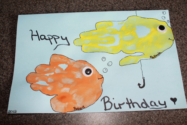 Birthday card for our fishing obsessed grandpa :)