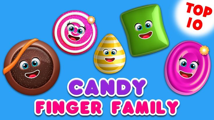 Candy Finger Family Song | Top 10 Finger Family Songs | Daddy Finger Rhyme