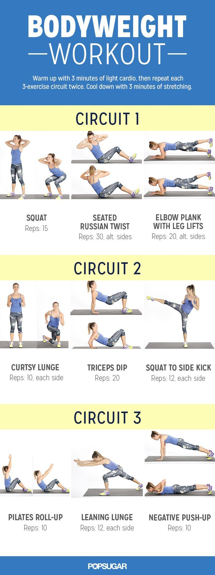 Do can this bodyweight workout anywhere! And it works your entire body from every angle.