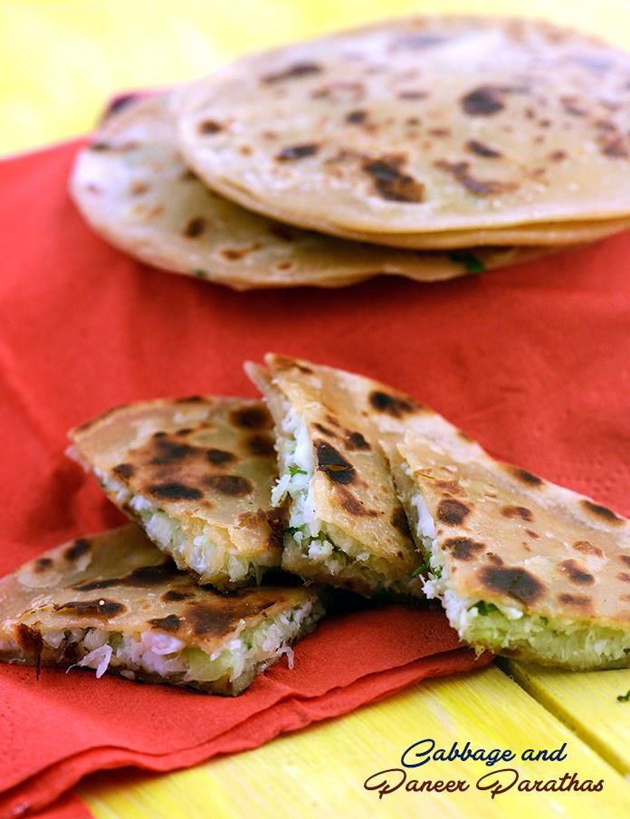 Cabbage and Paneer Parathas recipe | Cabbage Paneer Parathas Recipe | by Tarla Dalal | Tarladalal.com | #1481