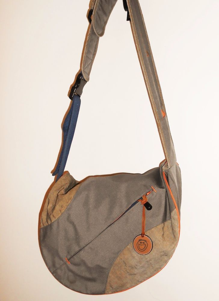 Life is Good Messenger Bag Crossbody Brown Orange Shoulder Unisex #LifeisGood #MessengerShoulderBag