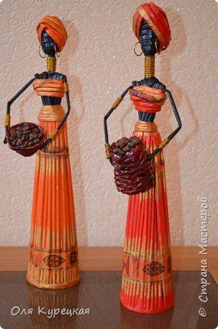 Поделка изделие Плетение Африканки Бумага газетная фото 1