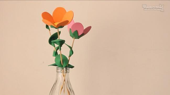 Flores de goma eva paso a paso - IMujer