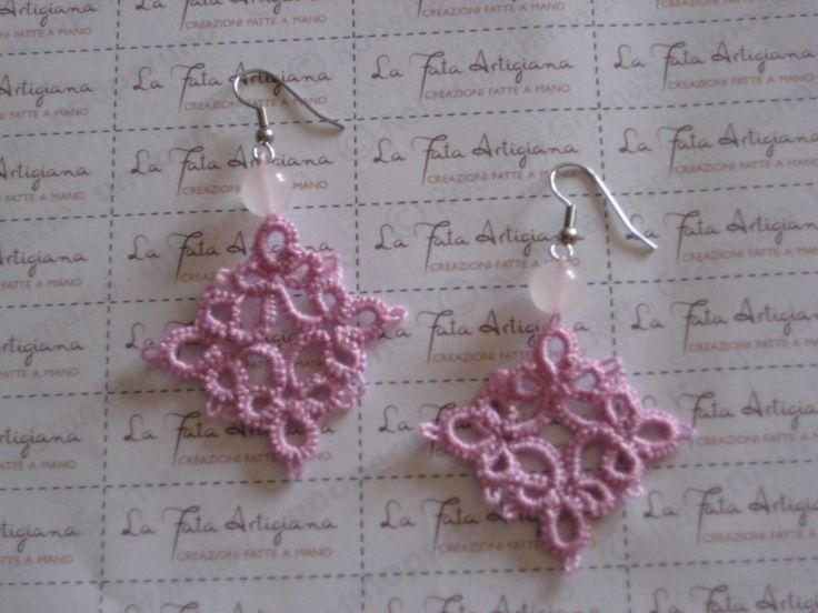 orecchini fatti a mano al chiacchierino, by la fata artigiana, 15,00 € su misshobby.com