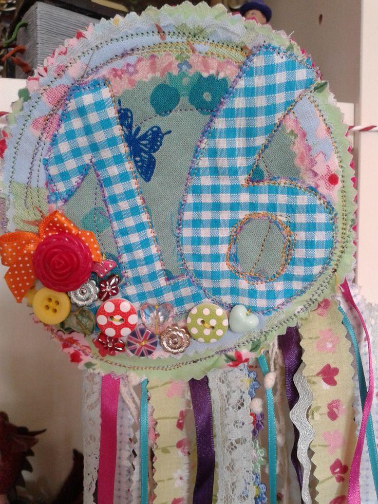 fabric birthday badge
