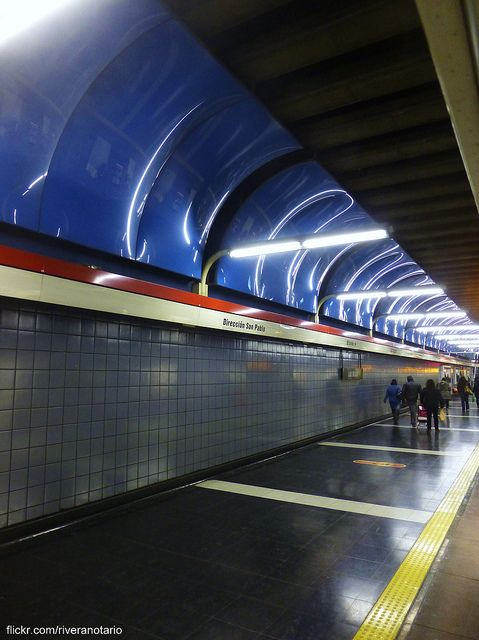 Estación Las Rejas - Metro de Santiago  http://www.flickr.com/photos/riveranotario/9337776381/