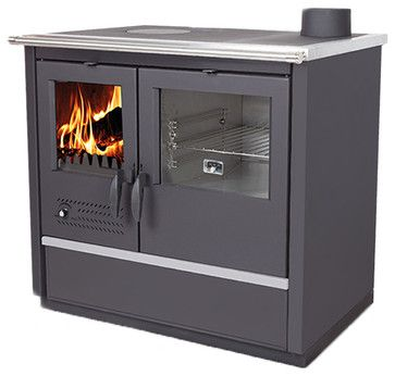 North Plus Wood Burning Cook Stove transitional-freestanding-stoves