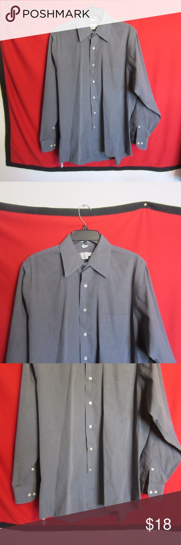 Geoffrey Beene Mens Gray Dress Shirt Size 16 34/35 This listing is for a great looking gently used Cotton Blend Geoffrey Beene Mens Gray Dress Shirt Size 16 34/35 Wrinkle Free. In great condition. No holes or stains. Ready for use. Geoffrey Beene Shirts Casual Button Down Shirts