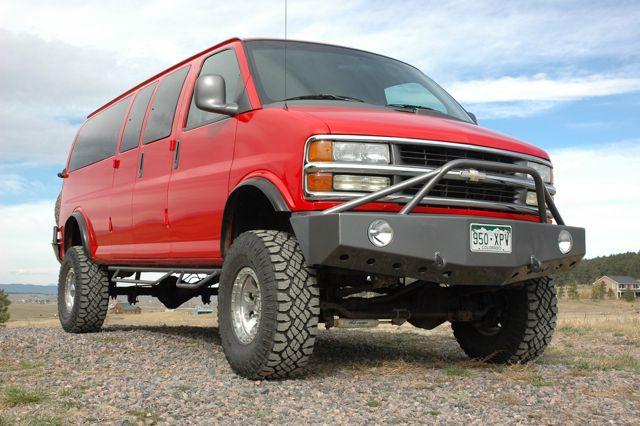 Boulder Offroad 4x4 Van Custom Conversions - 2001 Custom Chevy 4x4 15 Passenger Van
