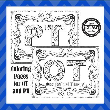 with intricate coloring sheets being super popular right now i thought i would create a few for occupational and physical therapy simple