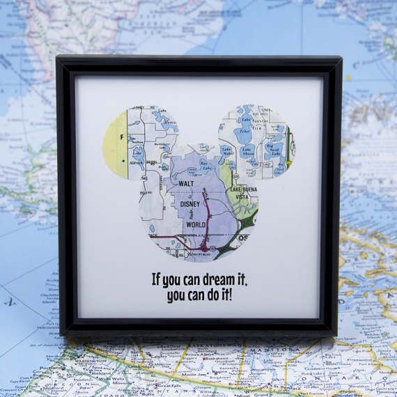 16 best ready to ship map art images on pinterest ship map disney world map art mouse ears if you can dream it you can do gumiabroncs Images