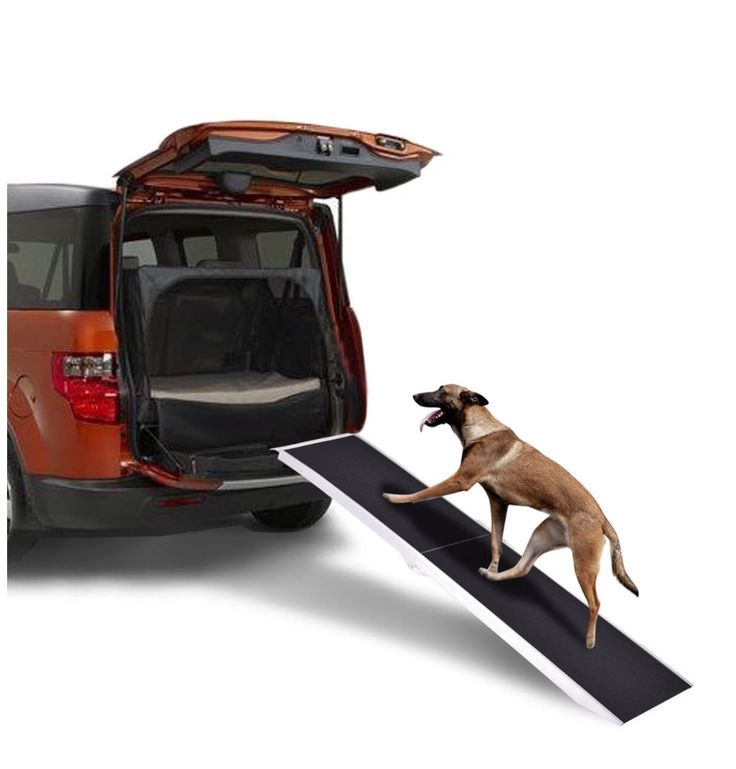 7Ft Portable Aluminum Folding Pet Paw Safe Dog Ramp Ladder Incline Car Truck SUV This 7ft dog loading ramps give pets plenty of room for walking up and down to enter and exit a vehicle with ease. Great for minivans, cars and pickup trucks, portable pet loading ramps reduce strain on animal joints by eliminating the need to have to jump to or from an elevated surface. The surface features a paw-friendly grip tape usable in most weather conditions. The dog ramp features a maximum 250 lb…