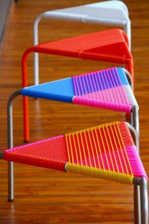 Tabourets Bewitched by Colour par Milou Ket - Blog Déco Design