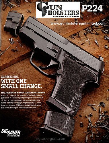 Sig Sauer P224 Gun with High Capacity 9mm - Pics