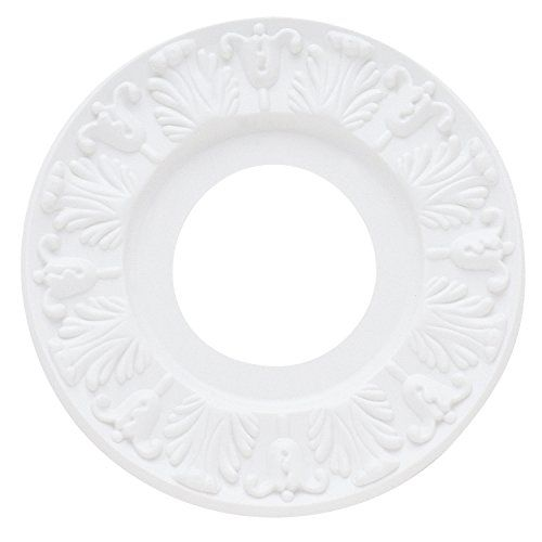 """Westinghouse 7702700 Victorian Ceiling Medallion, 10"""", White Finish - The Westinghouse Victorian White Finish Ceiling Medallion adds a subtly elegant aesthetic to any ceiling fan or lighting fixture. The medallion features a charming Victorian-style pattern on a clean white surface. The simple installation of this medallion is a great way to hide a hole if an openi..."""