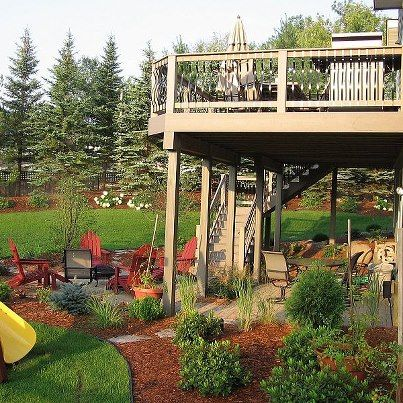 152 best images about under deck patio on pinterest for High deck ideas