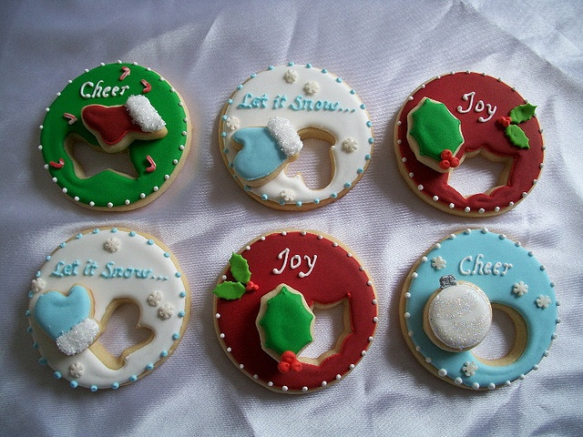Christmas cut-out cookies! How creative!