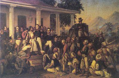 """The Arresting of Diponegoro"", by Raden Saleh Syarif Bustaman (1857)."