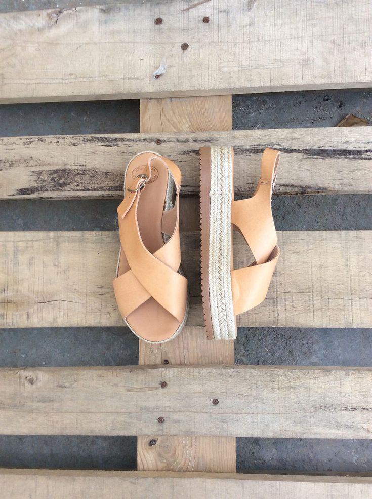A personal favorite from my Etsy shop https://www.etsy.com/listing/507856154/espadrille-platform-sandals-in-natural