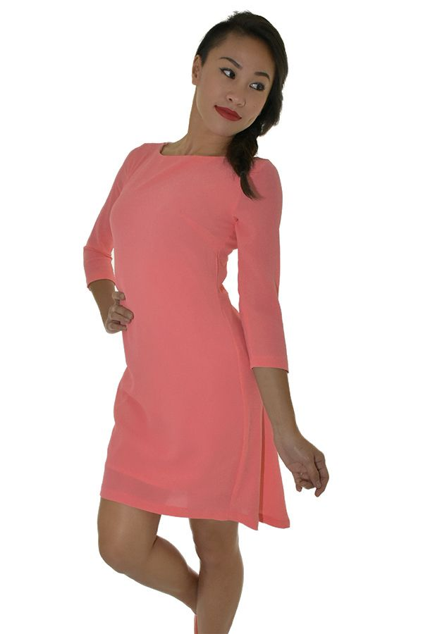 PSL High low Swing Dress in Brink Pink