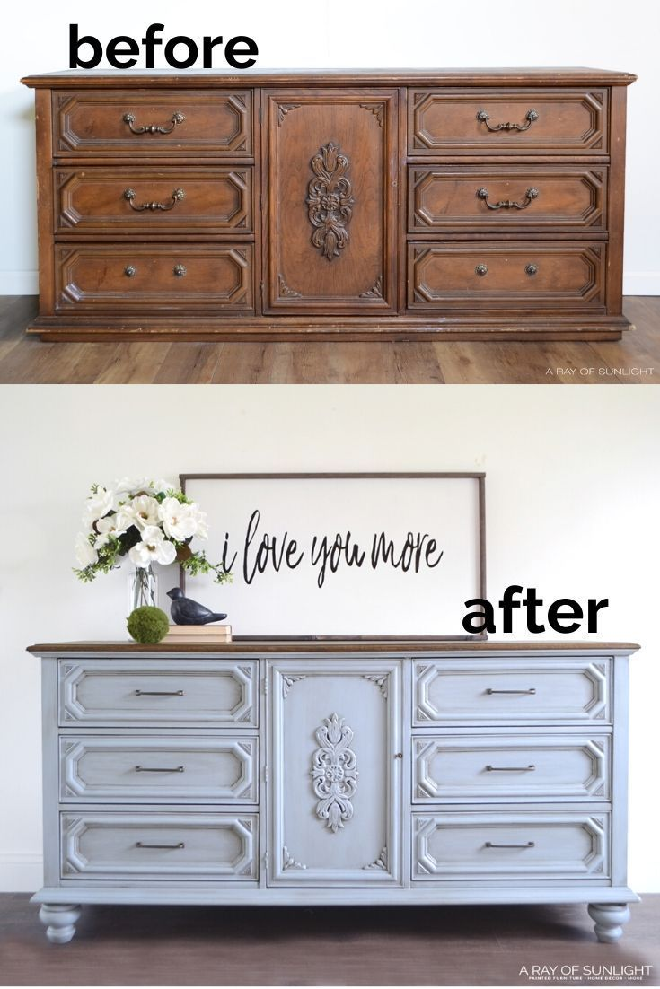 Adding Legs To A Dresser In 2020 Furniture Makeover Diy Furniture Cheap Furniture Makeover