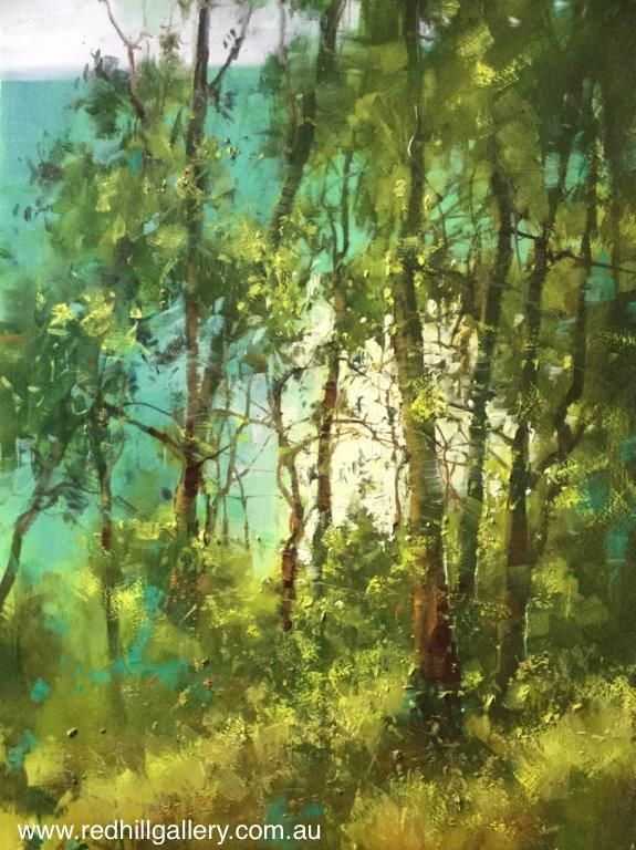 "Herman Pekel ""Noosa National Park 2"" 55x75cm. 61 Musgrave Road, Red Hill, Brisbane, QlD Australia. art@redhillgallery.com.au"