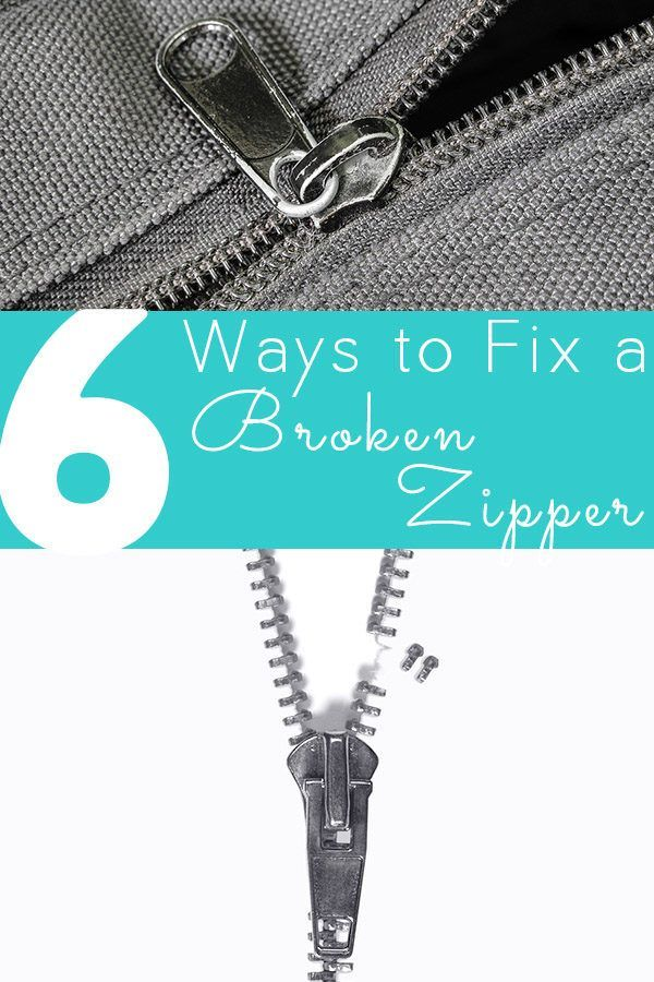 A broken zipper doesn't have to be the end of your favorite jacket, boots, or pair of pants! Here are six video tutorials for how to fix a zipper.  1. How to Fix a Separating Zipper (Or: How to Fix a