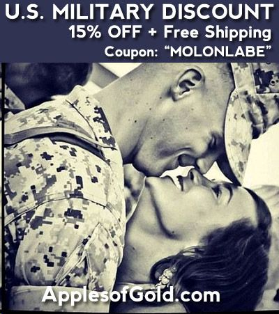 15% Military discount from ApplesofGold.com | Jewelry, Wedding, engagment