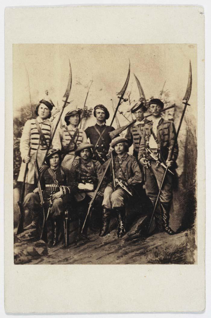 "Kosynierzy (""scythemen"") - legendary insurgent infantry-militia, similar to levee en masse, armed with modified scythes (blades straight)."