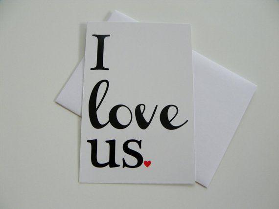 Romantische Karte Ich liebe uns Karte Valentinskarte Grußkarte Valentinstagskarte Romantische Karte für Freund Karte für Freundin   – Gift ideas