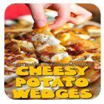 Cheesy Potato Wedges Recipe #recipe | StuckAtHomeMom.com