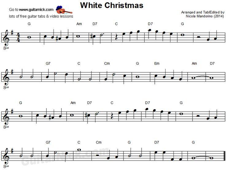 white christmas chords lyrics guitar
