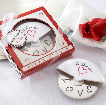 A Slice of Love Stainless-Steel Pizza Cutter | Practical and useful Italian wedding favors