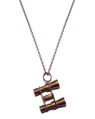 Vintage Binoculars Necklace - JewelMint