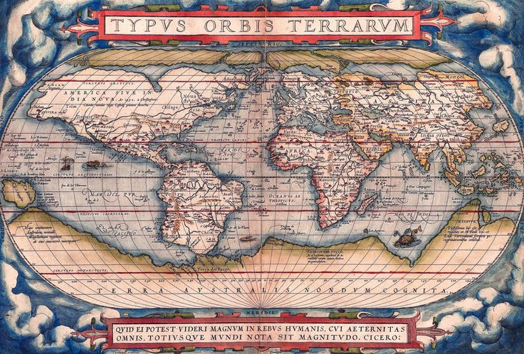 antique world map old vintage map 1570 fade resistant hd art print or