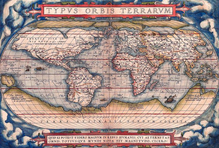 20 best antique maps vintage maps art prints images on pinterest antique world map old vintage map 1570 fade resistant hd art print or gumiabroncs Images