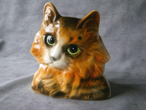 Vintage Calico Tortoiseshell Tabby Cat Planter Vase   eBay