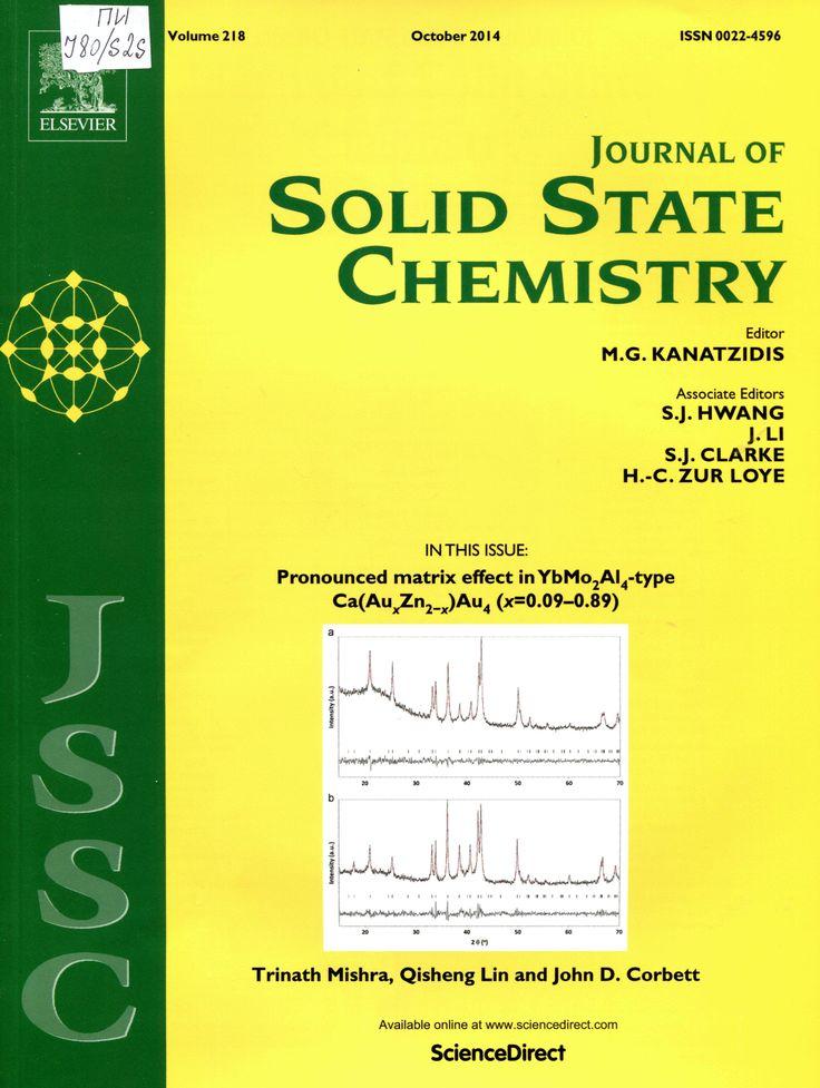 Публикации в журналах, наукометрической базы Scopus  Journal of Solid State Chemistry #Solid #State #Chemistry #Journals #публикация, #журнал, #публикациявжурнале #globalpublication #publication #статья