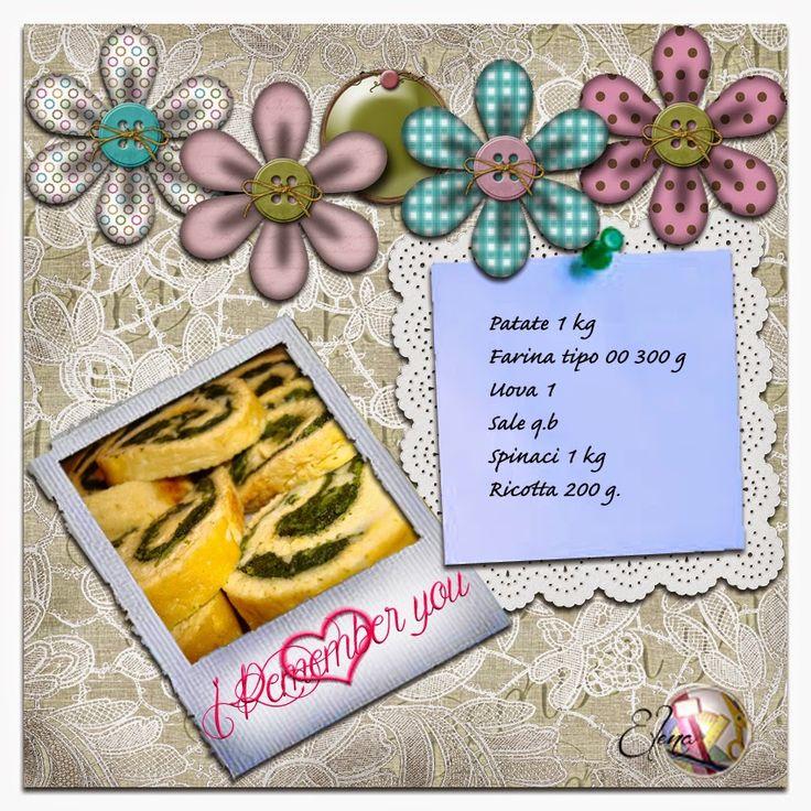 Scrappiamo Insieme: Ispirazione del mese: La ricetta della Mamma