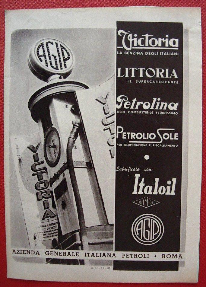 vecchia stampa pubblicitaria agip petroli anni 30