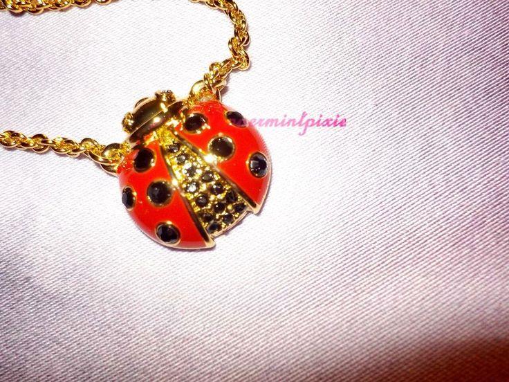 kate spade  garden party ladybug mini pendant OBRU1302  tag/great Gift SALE #katespade #PendantNecklace