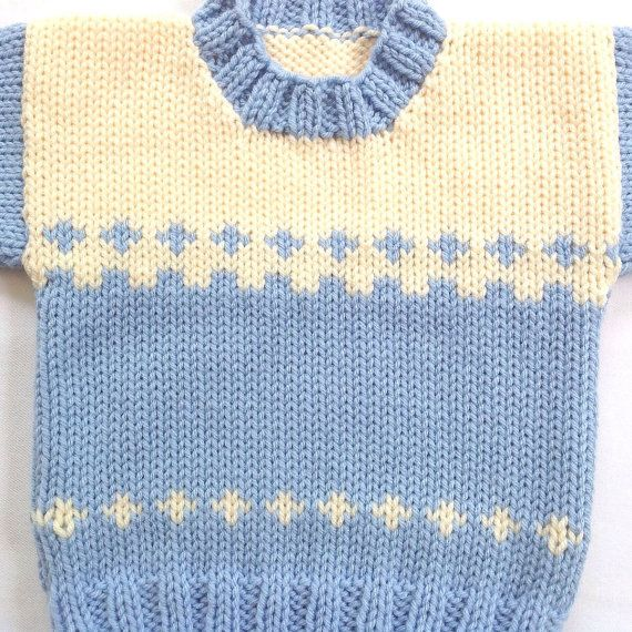 Baby sweater  6 to 12 months  Knitted baby clothes  Baby