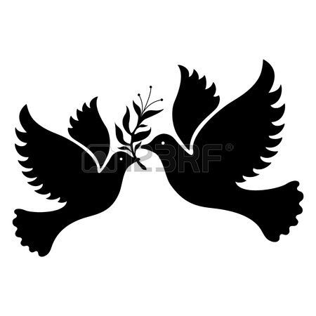 A free flying white dove symbol Vector