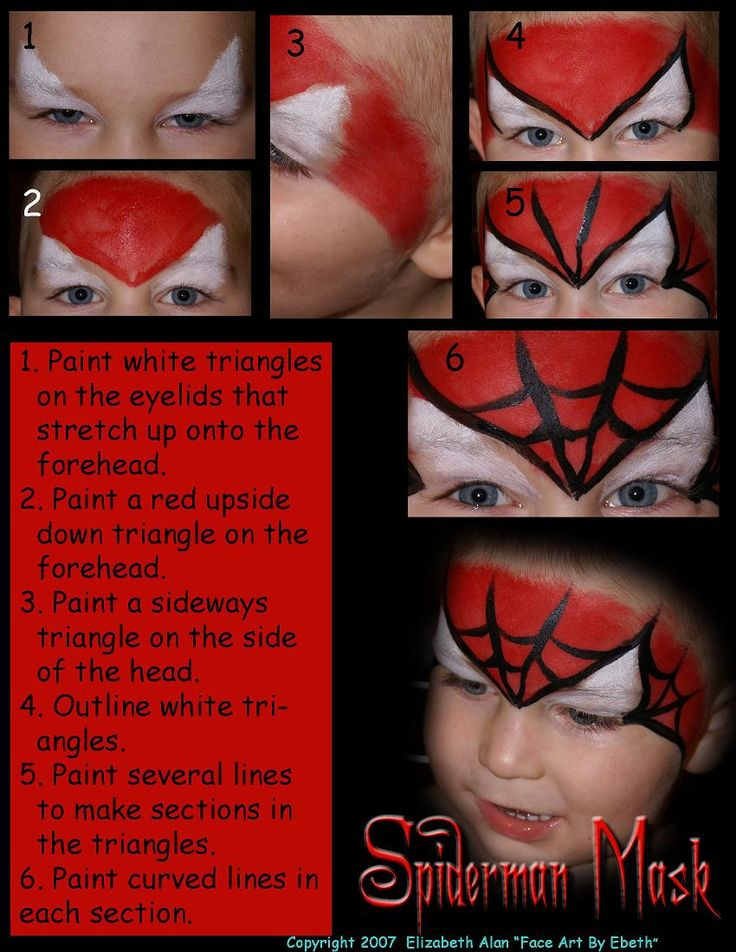 Spiderman facepaint