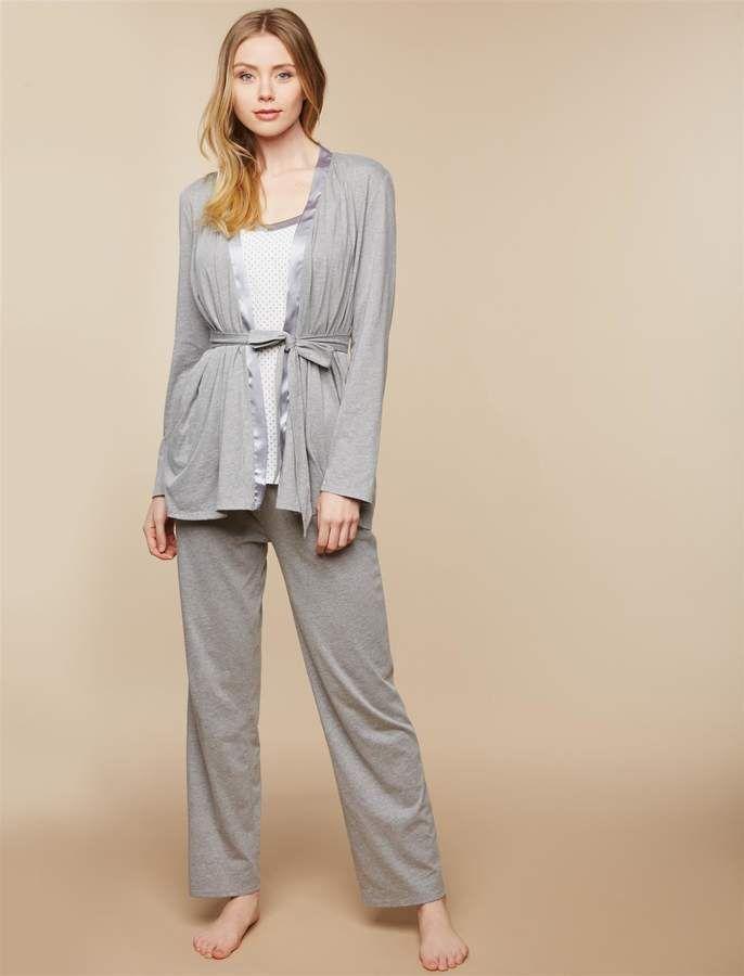 95d8a230a17da Nursing 3 Piece Set | Products | Maternity Pajamas, Maternity ...