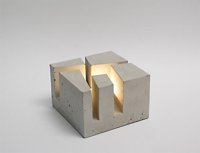 betonWare . stövchen aus beton + concrete tealight, 2012