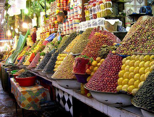 Street market in Fes, Morrocco
