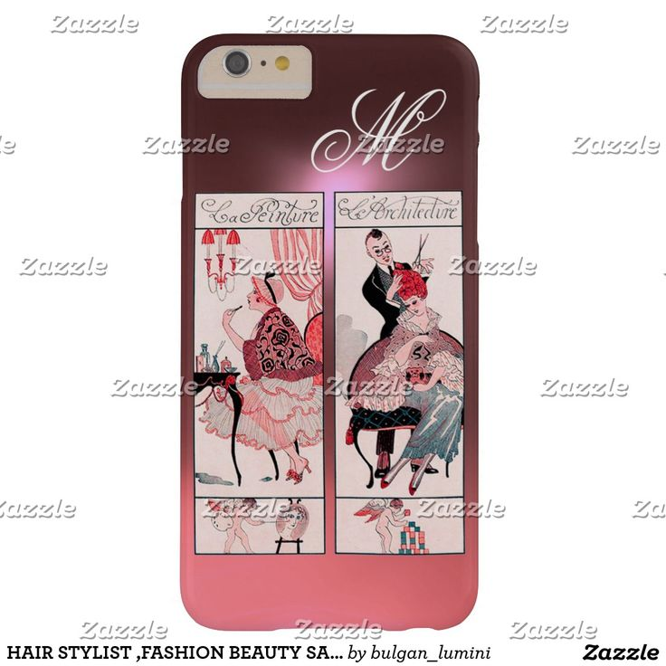 HAIR STYLIST ,FASHION BEAUTY SALON MAKE UP ARTIST BARELY THERE Pink iPhone 6 PLUS CASE