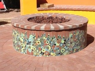 Marie's Masterpiece Fire Pit created using No Days Mesh...Fan-tabulous job!